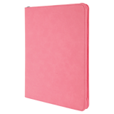 "9 1/2"" x 12"" Pink with Zipper Laserable Leatherette Portfolio with Notepad"