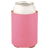 "3 3/4"" Pink Laserable Leatherette Beverage Holder"