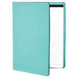 "9 1/2"" x 12"" Teal Laserable Leatherette Portfolio with Notepad"