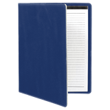 "9 1/2"" x 12"" Blue/Silver Laserable Leatherette Portfolio with Notepad"