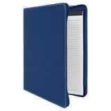 "9 1/2"" x 12""  Blue/Silver w/Zipper Laserable Leatherette Portfolio with Notepad"