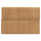 "3 3/4"" x 2 3/4"" Bamboo Laserable Leatherette Hard Business Card Holder"
