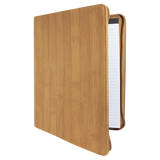 "9 1/2"" x 12"" Bamboo with Zipper Laserable Leatherette Portfolio with Notepad"