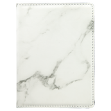 "4 1/4"" x 5 1/2"" White Marble Laserable Leatherette Passport Holder"