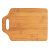 "11"" x 7 3/4"" Bamboo Cutting Board with Handle"