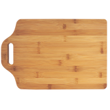 "15"" x 10 1/4"" Bamboo Cutting Board with Handle"