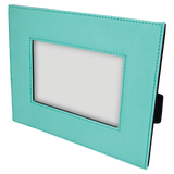 "4"" x 6"" Teal Laserable Leatherette Photo Frame"