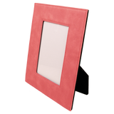"4"" x 6"" Pink Laserable Leatherette Photo Frame"
