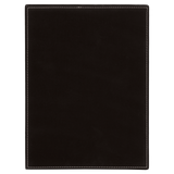 "9"" x 12"" Black/Silver Laserable Leatherette Plaque"
