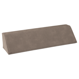 "8 1/2"" Gray Laserable Leatherette Desk Wedge"