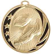 "2"" Bright Gold Track Laserable MidNite Star Medal"