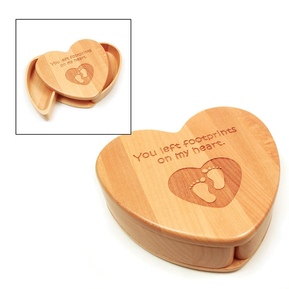 Heart shaped keepsake box.