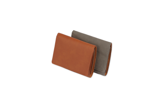 Faux leather trifold wallet