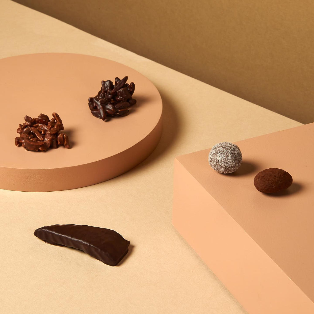 Our Hill St. almond rocks, chocolate coated hazelnuts & almonds, orange confit...