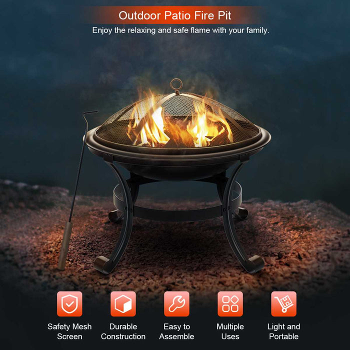 Cozy Outdoor Wood Fire Pit