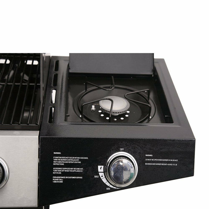 Master Cook Burner Backyard Grill | Stainless Steel Outdoor Cooking Gas Grill