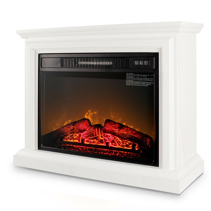 Onebigoutlet Electric Fireplace | Adjustable Flame Wood