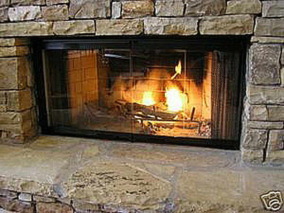 "Pathline Fireplace Doors | Majestic Glass traditional Store | 36"" Set"