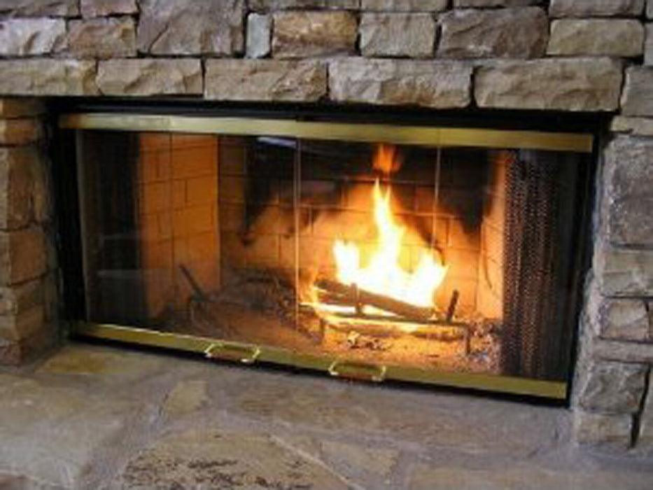 Pathline Traditional Fireplace | Aluminum and Glass Fireplace Doors