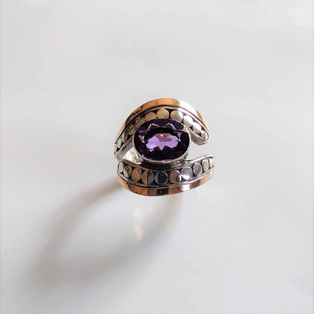 Amethyst Eye Ring