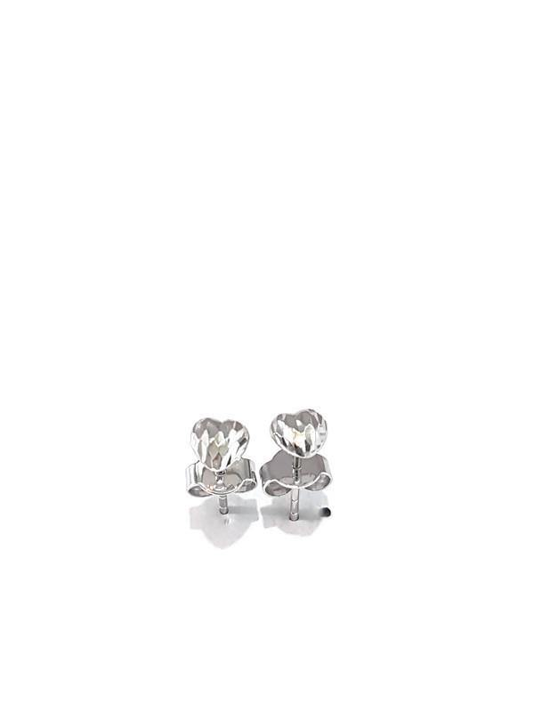 Heart earring White gold 18K - Pipat Jewelry Online