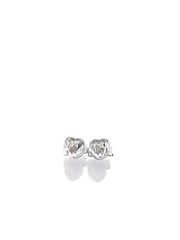 Heart earring White gold 18K