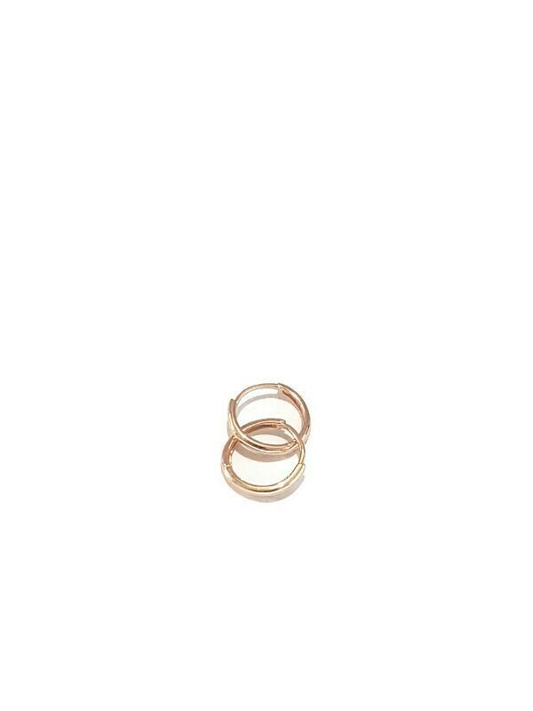 Hoope earring Rose gold 18K - Pipat Jewelry Online