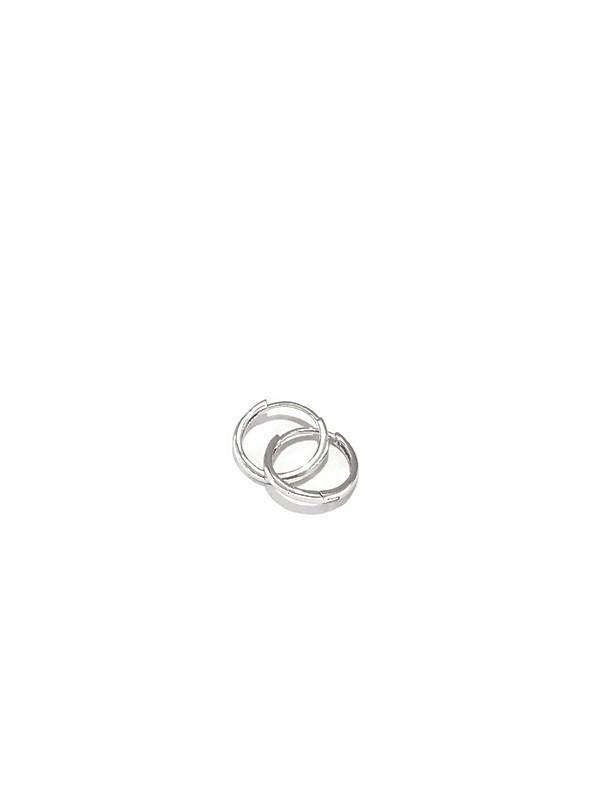 Hoop earing White gold 18K - Pipat Jewelry Online