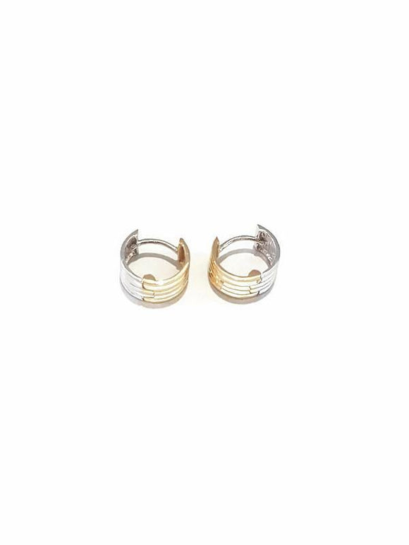 Hoop earing two tone color 18K gold