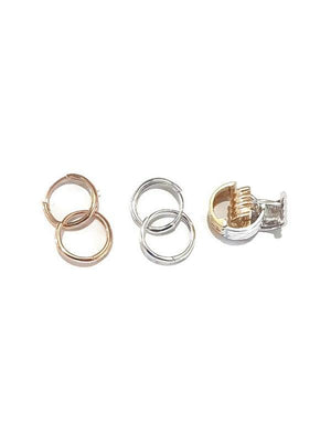 Hoop earing two tone color 18K gold - Pipat Jewelry Online
