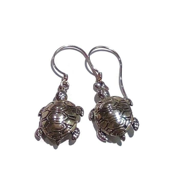 Snapping Turtle Design Hanging Earrings - Pipat Jewelry Online