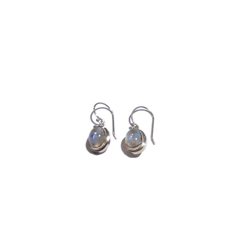 Moon Stone Hanging Earrings - Pipat Jewelry Online