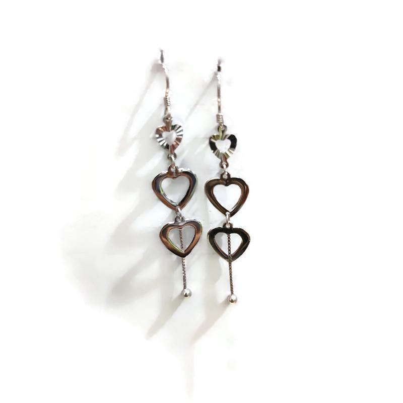 Heart Hanging Earrings - Pipat Jewelry Online