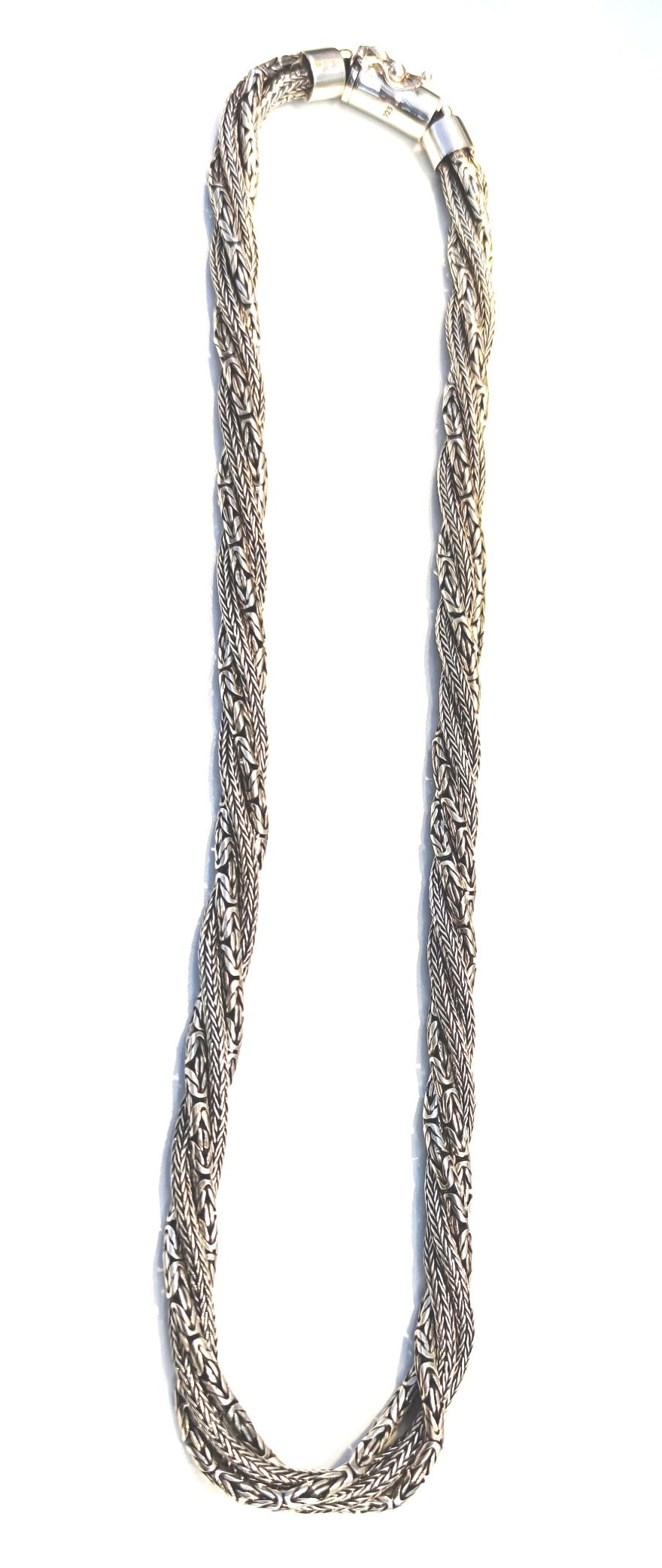 Silver 925 Multi Chains Doble lock Strong Chain