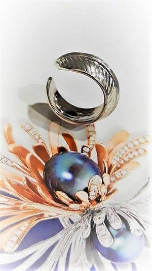 Silver Ring Leave Design - Pipat Jewelry Online