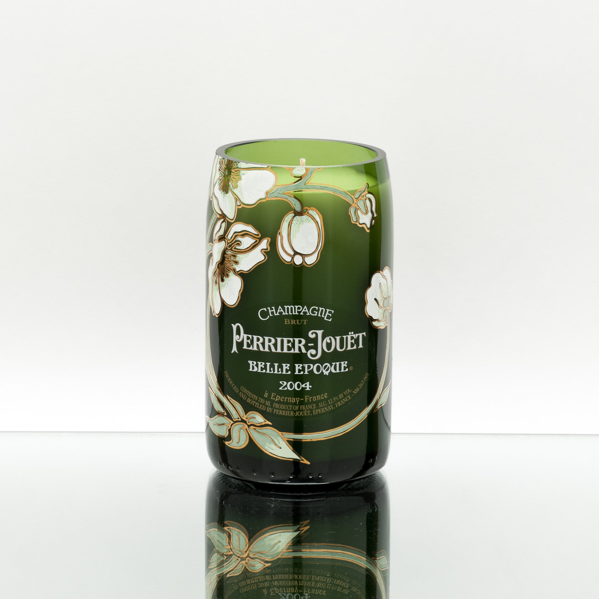 Emerald Floral Candle
