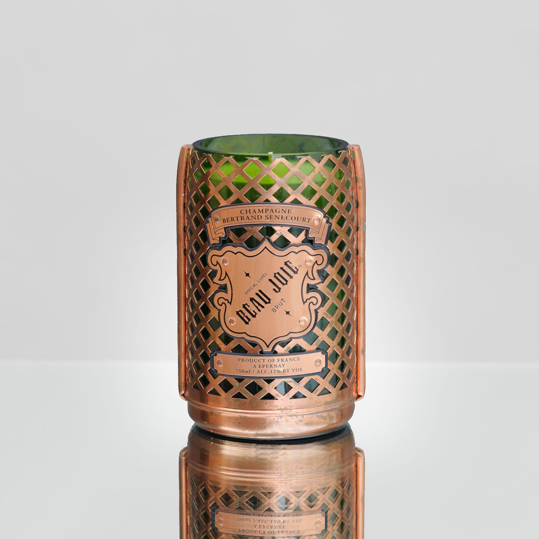 Copper Cage Brut Candle