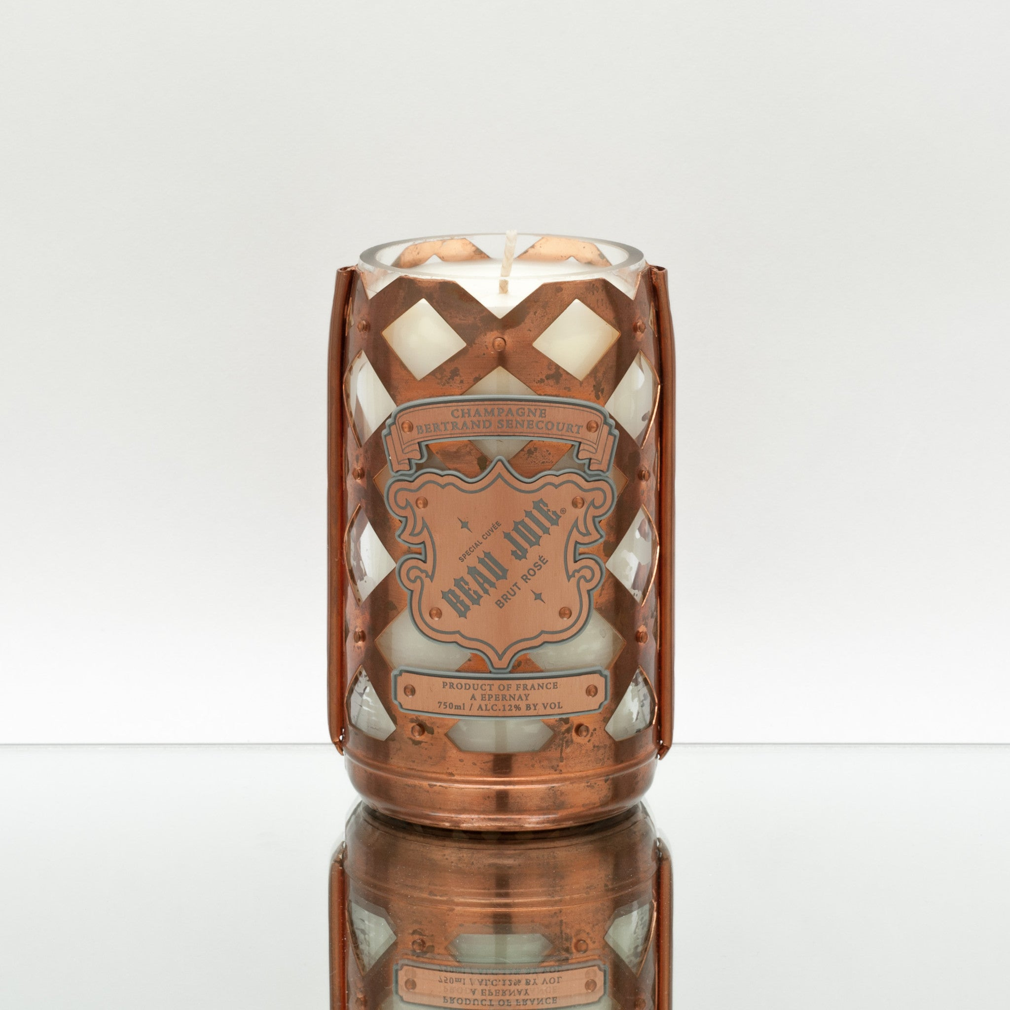 Copper Cage Rose Candle