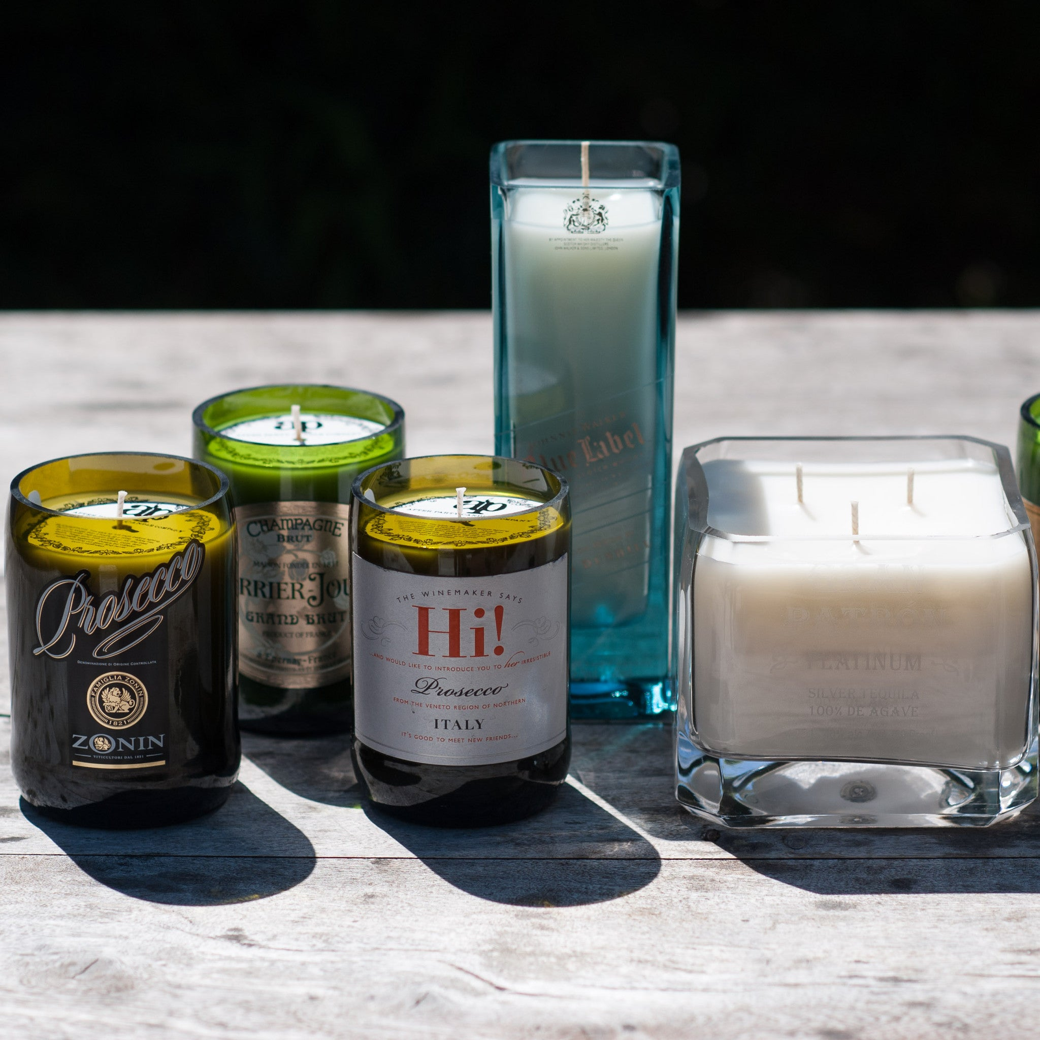 Custom Candle from Your Bottle