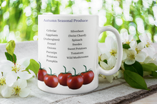 Load image into Gallery viewer, Seasonal Produce Mug | Food Lovers | Gourmet Gifts | Seasonal Shopping | Fresh Fruit and Vegetables | Harvest | Autumn