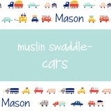 Muslin Swaddle - Cars