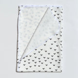 Ready to Ship - Swaddle - Little Black Hearts