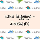 Name Leggings - Dinosaurs