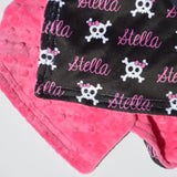 Double Minky Blanket - Skull and Bows