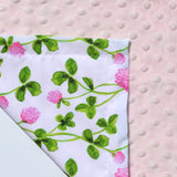 Ready to Ship - Watercolor Clover Flower Lovey Blanket