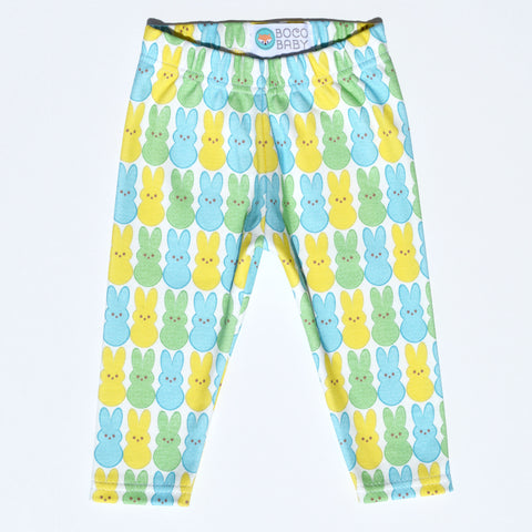 Ready to Ship - Non-Personalized Leggings - Peeps Green and Blue