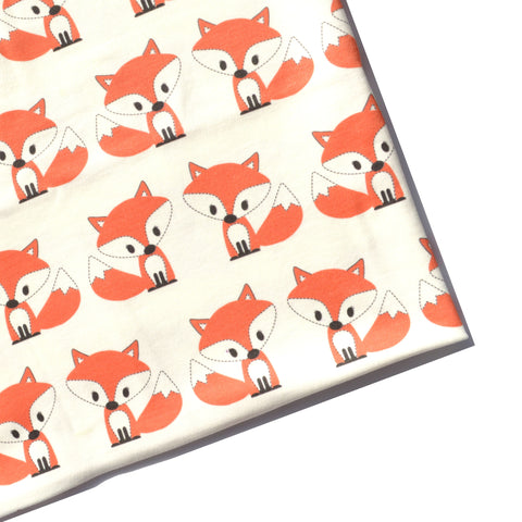 Ready to Ship - Swaddle - Little Fox with White Background