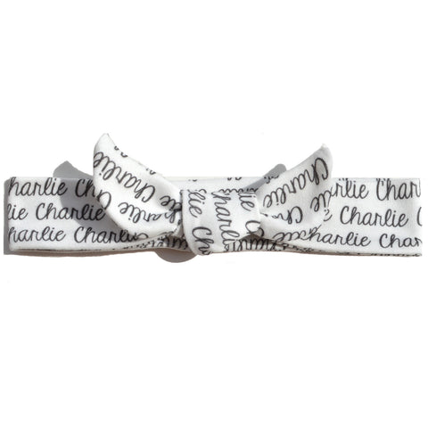 Knotted Headband - Name Only - Single Color