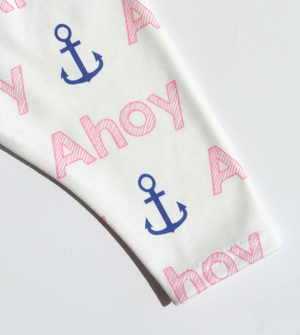 Ready to Ship - Non Personalized Leggings - Ahoy