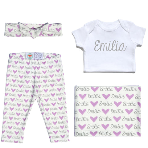 Welcome Baby Set - Hearts